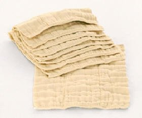 DSQ Indian Unbleached Premium Prefolds Dozen