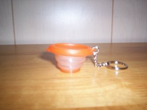 Tupperware Flat Out Key Chain Collectible