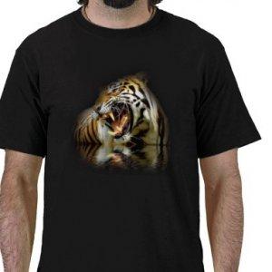 TIGER Design Kids Dark T-Shirt size youth lg