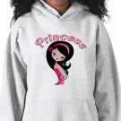 PRINCESS Design Kids Hooded Sweatshirt Hoodie size youth lg