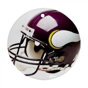Minnesota Vikings Porcelain Flat Round Ceiling Fan pull or Ornament Football 28781645