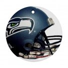 Seattle Seahawks Porcelain Flat Round Ceiling Fan pull or Ornament Football 28782413