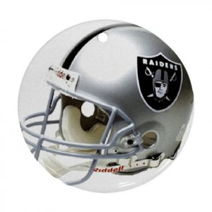 Oakland Raiders Porcelain Flat Round Ceiling Fan pull Ornament Football 28782417