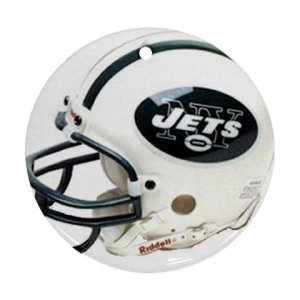 New York Jets Porcelain Flat Round Ceiling Fan pull or Ornament Football 28783269