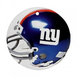 New York Giants Porcelain Flat Round Ceiling Fan pull or Ornament Football 28783270