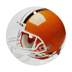 Cleveland Browns Porcelain Ornament Flat Round Ceiling Fan pull Football 28783277