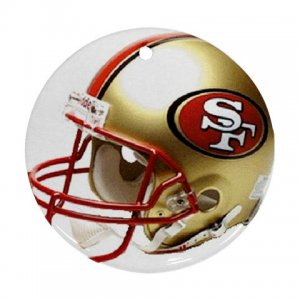 San Francisco 49ers Porcelain Flat Round Ornament Ceiling Fan pull Football 28783283