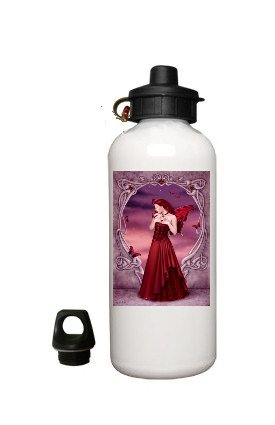 Fantasy Fairy Aluminum White Water Bottle Eco Green