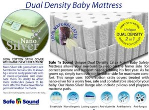 Dual Density Baby Safety Mattress with Nano Silver Cotton Cover, RM 569