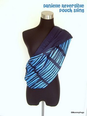 Danielle Blue with Stripes Rose Silk with Dark Blue Satin Cotton