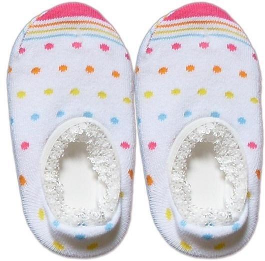 Japan Baby Low-cut Anti-Slip Socks - White Dots, RM 12/pair