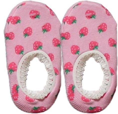 Japan Baby Low-cut Anti-Slip Socks - Pink Strawberry, RM 12/pair