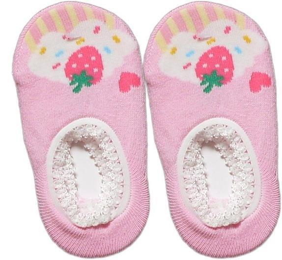Japan Baby Low-cut Anti-Slip Socks - Pink Cupcake, RM 12/pair