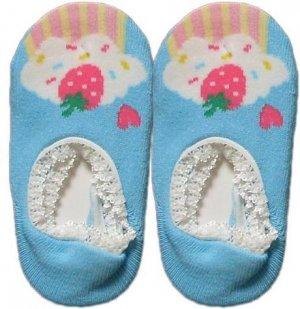Japan Baby Low-cut Anti-Slip Socks - Blue Cupcake, RM 12/pair