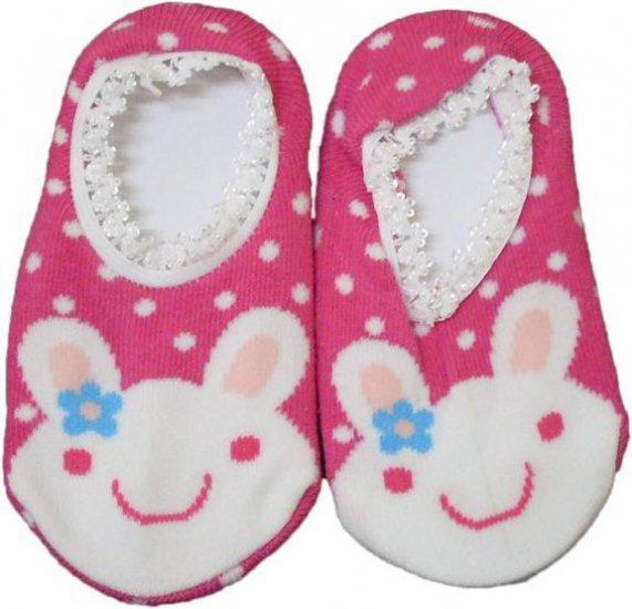 Japan Baby Low-cut Anti-Slip Socks - Pink Rabbit, RM 12/pair