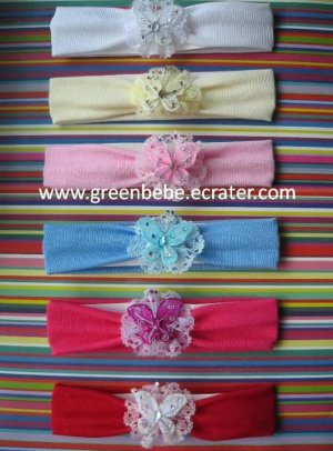 Butterfly Lace Baby Headband, RM 15.90 each