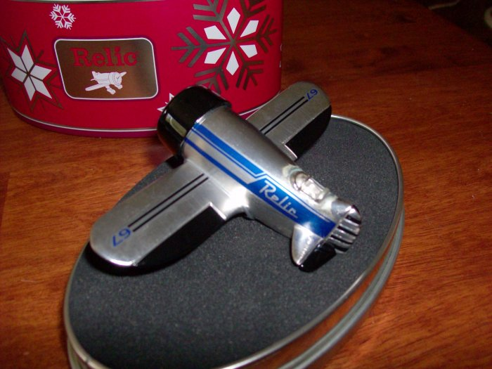 Vintage Airplane Desk Clock by Relic