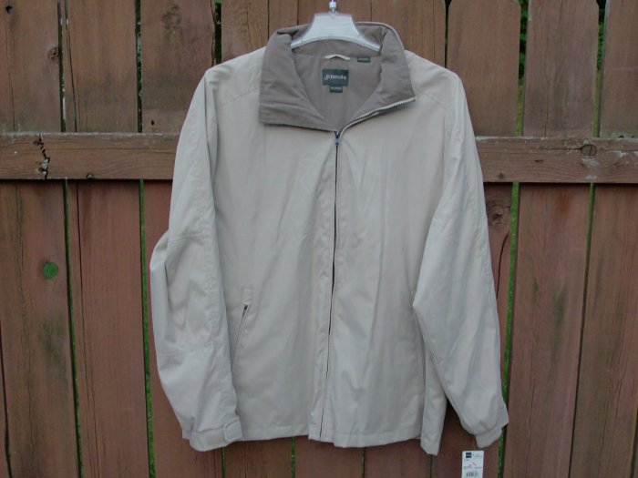 St. John's Bay Men's Beige/Taupe Jacket - XL
