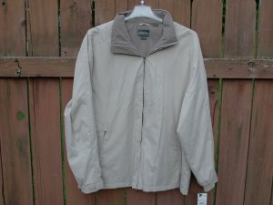 St. John's Bay Men's Beige/Taupe Jacket - XL