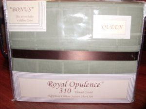 Royal Opulence 310 TC Egyptian Cotton Sateen Sheet Set - Queen