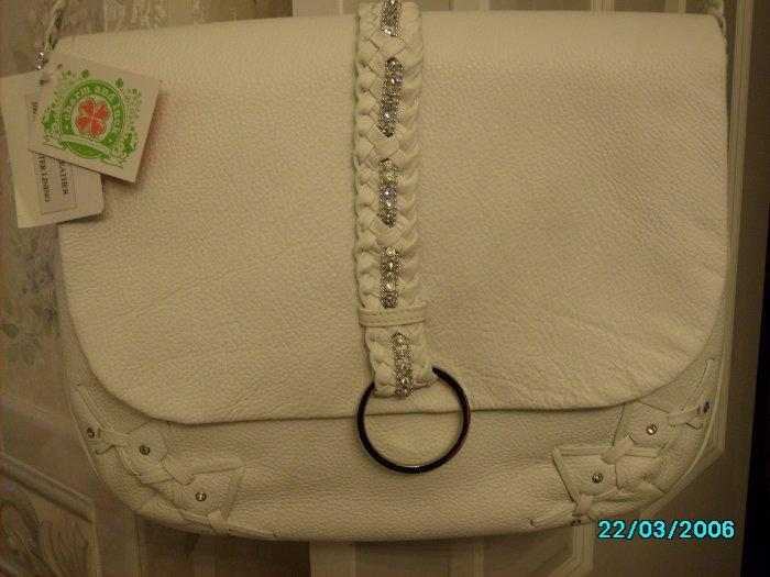 Pebbled Leather Messenger Bag