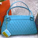 Vera Bradley Trapeze Microfiber handbag Turquoise blue NWT Retired 50% off