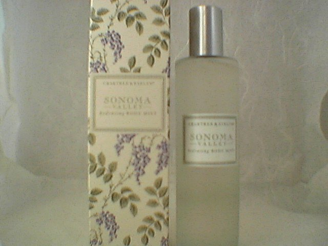 Crabtree Evelyn Body Mist Sonoma Valley  3.4 oz  100 ml   Fragrance gift Rare