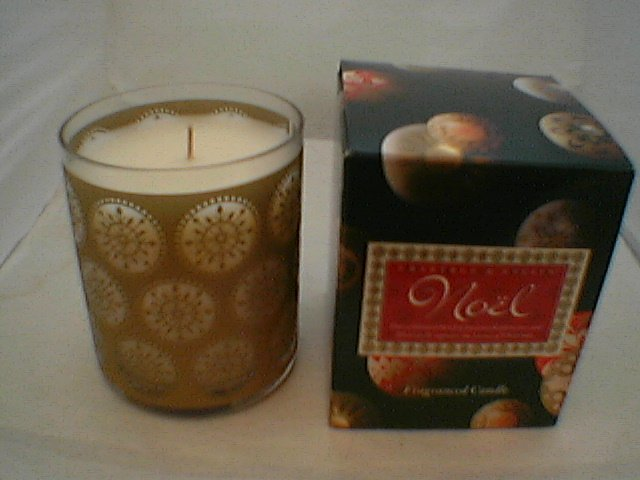 Crabtree Evelyn Original NOEL Poured Candle 45 Hr Frankincense Siberian Fir