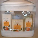 Crabtree Evelyn Apricot Kernel Oil Gift Case   Soap Bath Shower Gel Lotion Glove - Rare
