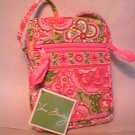 Vera Bradley Mini Hipster crossbody swing purse organizer wallet Petal Pink • NWT Retired