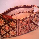 Vera Bradley Medium Bow travel Cosmetic bag Medallion make-up case  NWT Retired