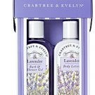 Crabtree Evelyn DUO classic Lavender  Bath Shower Gel + Lotion  5.1 oz. 150 ml.  GIFT NOS