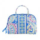 Vera Bradley Purse Cosmetic Capri Blue travel bag makeup case • NWT Retired