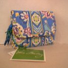 Vera Bradley Pocket Wallet Capri Blue ID card case tri-fold coin purse  NWT Retired