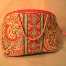 Vera Bradley Purse Cosmetic bag makeup travel case Capri Melon  NWT Rare Retired