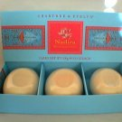 Crabtree-Evelyn box/3 Bath Soap Nadira  3.5 oz   disc  gardenia rose spice