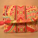 Vera Bradley Pocket Wallet foldover ID case Capri Melon    NWT Retired HTF  coin  tri-fold