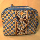 Vera Bradley Purse Cosmetic bag Riviera Blue  make-up travel case NWT Retired