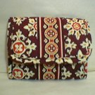 Vera Bradley   Pocket Wallet Medallion   coin ID card case tri-fold brown  NWT Retired