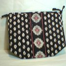 Vera Bradley Large Bow Cosmetic  Classic Black  make-up bag case - New NWOT  Retired VHTF