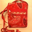 Vera Bradley Mini Hipster crossbody organizer wallet on string Mesa Red • purse  NWT Retired