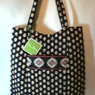 Vera Bradley Curvy Tote Classic Black  - purse knitting laundry magazine bag  - NWT Retired