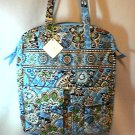 Vera Bradley Tall Zip Tote  laptop commuter pocket tote diaper bag Bali Blue  Retired NWT VHTF
