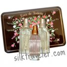 L occitane Gift tin of three 20ml EDT Green Tea, Verbena & Rose  Trois Eau de Toilette Ltd Ed FS