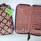 Vera Bradley Travel Organizer zip around passport wallet clutch Medallion brown • NWT Retired