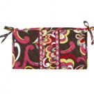 Vera Bradley Medium Bow Cosmetic bag Puccini  makeup travel case   NWT Retired