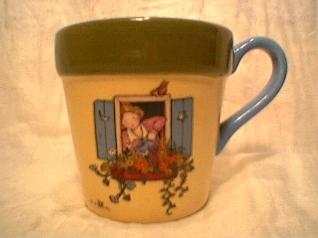 Mary Engelbreit  Windowbox flower pot Mug  large gift flowerpot  Teleflora