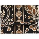 Vera Bradley Pocket Wallet Caffe Latte coin purse ID card case foldover  NWT Retired