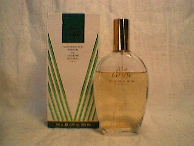 Ma Griffe Parfum de Toilette Natural Spray  Carven Paris  100 ml / 3.3 oz  Used  vintage perfume