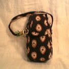 Vera Bradley Cell Phone Case Classic Black ID card tech key makeup holder  NWT Retired